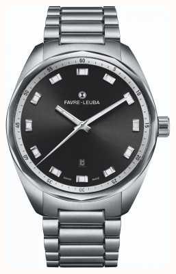Favre Leuba Sky Chief Date   Stainless Steel Bracelet   Black Dial 00.10201.08.11.20
