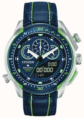 Citizen Promaster SST | World Time | Blue Leather Strap JW0138-08L