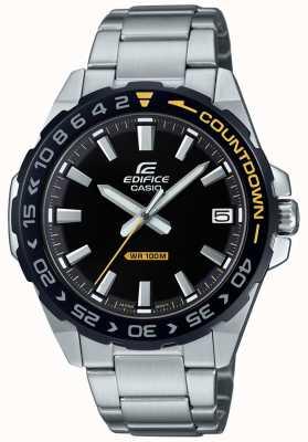 Casio Men's Edifice Black Dial Black/Yellow Bezel EFV-120DB-1AVUEF