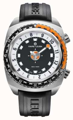 Favre Leuba Raider Harpoon 46 | Black Rubber Strap 00.10101.08.13.31