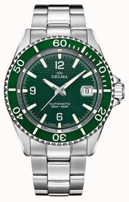 Delma Santiago Automatic | Stainless Steel Bracelet | Green Dial 41701.560.6.144