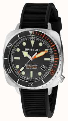 Briston Clubmaster Diver Pro Steel | Black Rubber Strap | Black Dial 20644.S.DP.35.RB