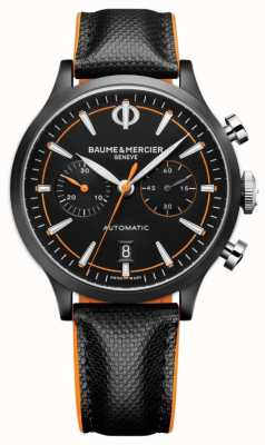 Baume & Mercier Capeland | Men's | Automatic | Black Leather | Black Dial M0A10452