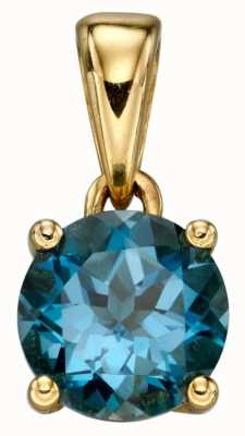 Elements Gold Y/g Saph Cz December Birthstone Pend Only GP2199