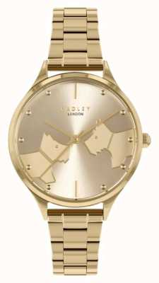 Radley Face To Face | Gold Tone Steel Bracelet | Gold Dial RY4516