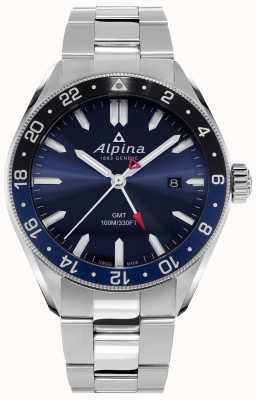 Alpina Alpiner Quartz GMT | Blue Dial | Stainless Steel Bracelet AL-247NB4E6B