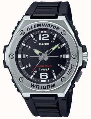 Casio Illuminator | Black Dial | Black Resin Strap MWA-100H-1AVEF