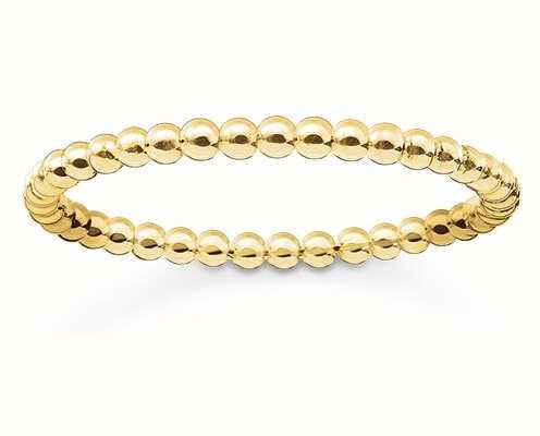 Thomas Sabo Glam And Soul | 18k Yellow Gold Plated Ring Size EU 52 (UK L 1/2) TR2122-413-12-52