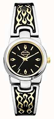 Harley Davidson Women's Bangle Bracelet | Black Dial 78L108