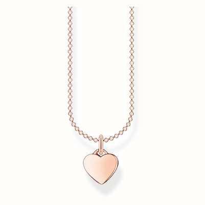 Thomas Sabo Heart  pendant Rose Gold plated 45cm Necklace KE2049-415-40-L45V