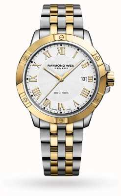 Raymond Weil Men's Tango | 41mm | Two-Tone Steel Bracelet | White Dial 8160-STP-00308