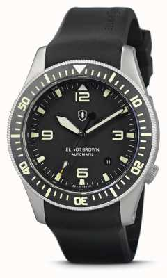 Elliot Brown Holton Automatic | Black Rubber Strap | Vapour Blasted Case 101-A11-R01