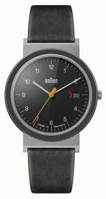 Braun Mens Classic Black Dial Black Leather Strap AW10EVO