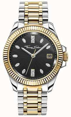 Thomas Sabo | Women's | Divine | Two-Tone Steel Bracelet | Black Dial | WA0370-291-203-33