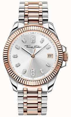 Thomas Sabo | Women's | Divine | Two-Tone Steel Bracelet | Silver Dial | WA0371-277-201-33