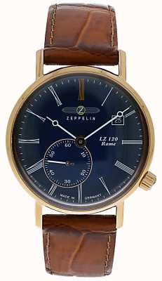 Zeppelin | LZ120 Rome Lady | Brown Leather Strap | Blue Dial | 7137-3