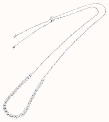 Calvin Klein Tune   Stainless Steel Cube Necklace   Crystal Set KJ9MMN040500