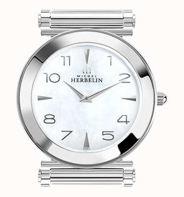 Michel Herbelin Antarès | Stainless Steel Watch Face Only | Mother Of Pearl H.17443/19