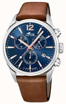 Lotus Men's Brown Leather Strap | Blue Chronograph Dial L18691/2