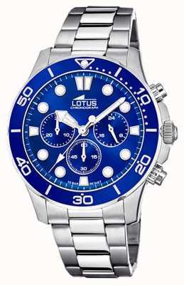 Lotus Men's Stainless Steel Bracelet | Blue Chronograph Dial L18756/1