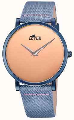 Lotus Men's Blue Leather Strap | Rose Gold Dial L18781/1