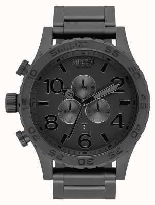 Nixon 51-30 Chrono | All Matte Black / Black | Black IP Bracelet | Black Dial A083-3086-00