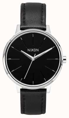 Nixon Kensington Leather   Black   Black Leather Strap   Black Dial A108-000-00
