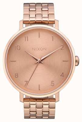 Nixon Arrow | All Rose Gold | Rose Gold IP Steel Bracelet | Rose Gold Dial A1090-897-00