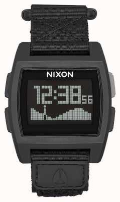 Nixon Base Tide Nylon   All Black   Digital   Black Nylon Strap A1169-001-00