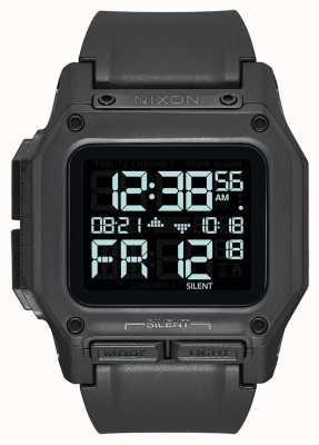 Nixon Regulus | All Black | Digital | Black TPU Strap A1180-001-00