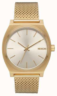 Nixon Time Teller Milanese | All Gold / Cream | Gold IP Steel Mesh | Cream Dial A1187-2807-00