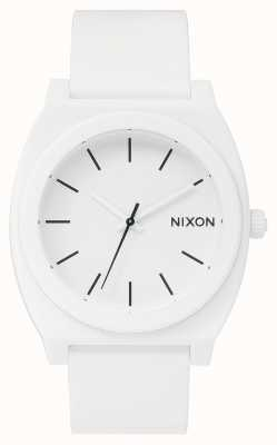 Nixon Time Teller P   Matte White   White Silicone Strap   White Dial A119-1030-00