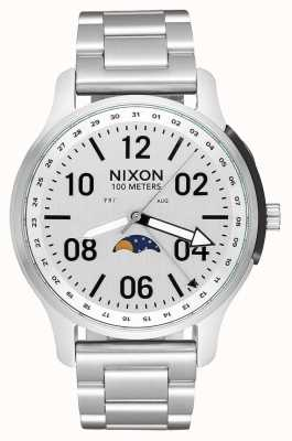 Nixon Ascender   All Silver   Stainless Steel Bracelet   White Dial A1208-1920-00