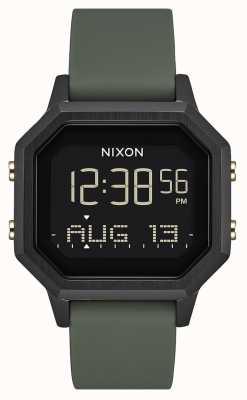 Nixon Siren SS   Black / Fatigue   Digital   Black Silicone   A1211-178-00