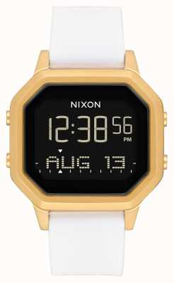 Nixon Siren SS   Gold / White   Digital   White Silicone Strap A1211-508-00