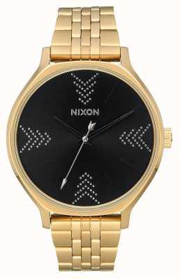 Nixon Clique | Gold / Black / Silver | Gold IP Steel Bracelet | Black Dial A1249-2879-00
