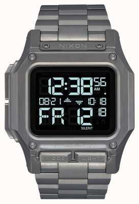 Nixon Regulus SS | Gunmetal | Digital | Gunmetal IP Steel Bracelet A1268-131-00