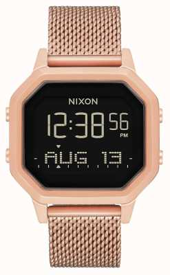 Nixon Siren Milanese | All Rose Gold | Digital | Rose Gold IP Steel Mesh | A1272-897-00