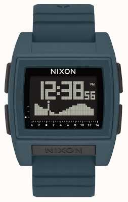 Nixon Base Tide Pro | Dark Slate | Digital | Slate Coloured Silicone Strap A1307-2889-00
