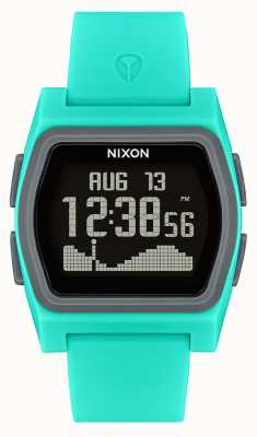 Nixon Rival | Turquoise | Digital | Turquoise Silicone Strap A1236-309-00