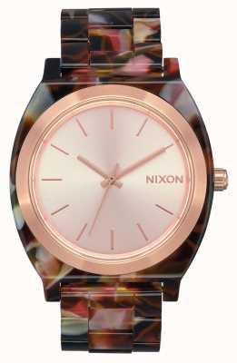 Nixon Time Teller Acetate   Rose Gold / Pink Tortoise   Rose Gold Dial A327-3233-00