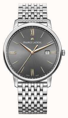 Maurice Lacroix Men's Eliros | Stainless Steel Bracelet | Black/Grey Dial EL1118-SS002-311-2
