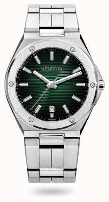 Michel Herbelin Cap Camarat Quartz | Stainless Steel Bracelet | Green Dial 12245/B16