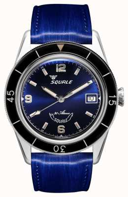 Squale 60 Years Blue | Sub-39 | Blue Leather Strap | Blue Dial SUB39BL-CINSQ60BL