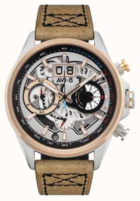 AVI-8 HAWKER HARRIER II | Chronograph | Brown Leather Strap AV-4065-02