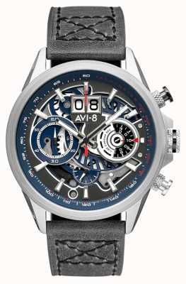 AVI-8 HAWKER HARRIER II | Chronograph | Grey Leather Strap AV-4065-04