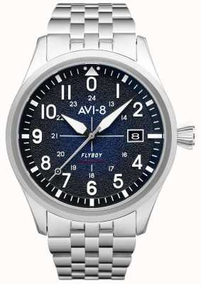 AVI-8 FLYBOY | Automatic | Blue Dial | Stainless Steel Bracelet AV-4075-22