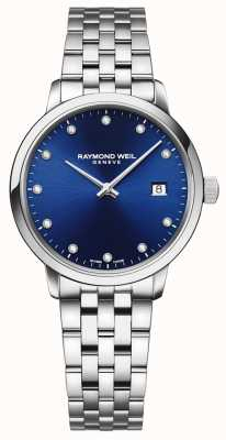 Raymond Weil Toccata | 11 Diamond Blue Dial | Stainless Steel Bracelet 5985-ST-50081