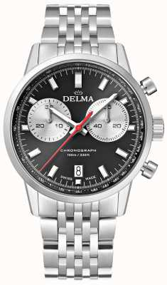 Delma Continental Chronograph | Steel Bracelet | Black Dial 41701.704.6.031