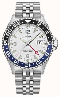 Delma Santiago GMT   Steel Bracelet   White Dial 41701.648.6.014